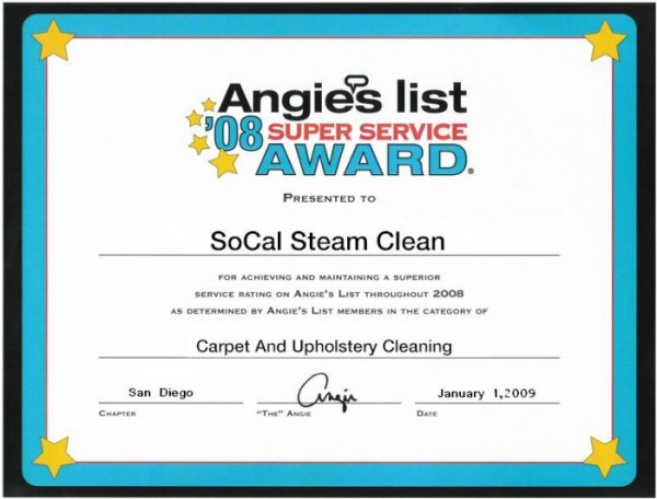 angies list socal steam clean